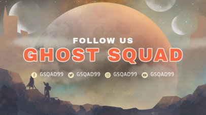 Destiny-Inspired Twitch Banner Template Featuring a Cosmic Background 3223a