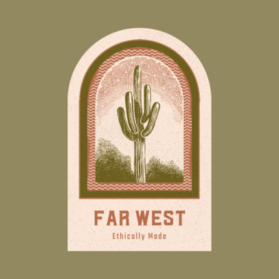 Logo Generator for Ethical Brands Featuring a Desert Landscape Illustration 3910b