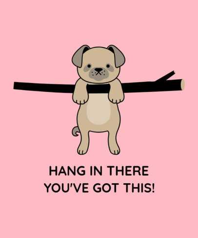 T-Shirt Design Generator with a Hanging Puppy Illustration 3243b