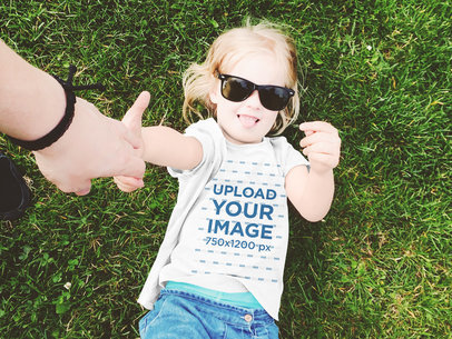 T-Shirt Mockup Featuring a Little Girl With Sunglasses 45610-r-el2