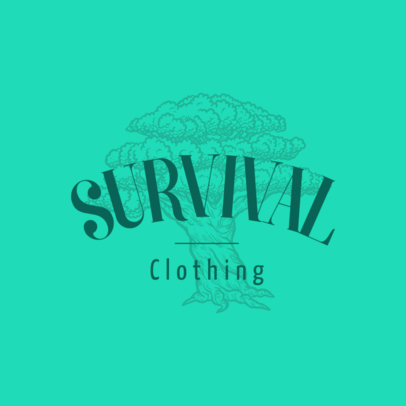 Clothing Brand Logo Template Featuring an Engraved Tree 3931g