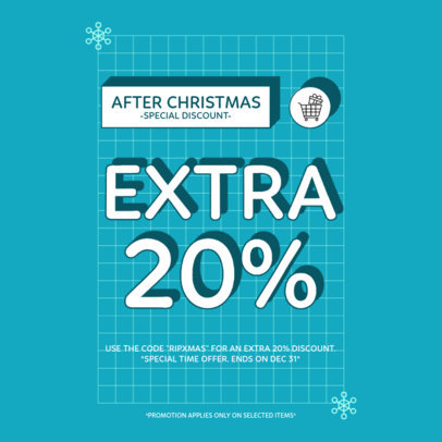 Instagram Post Maker for an After Christmas Special Discount Announcement 3304a-el1
