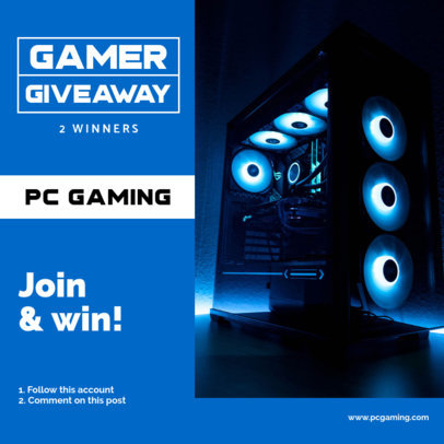 Instagram Post Maker to Promote a Giveaway for Gamers 3296e-el1