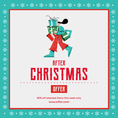 Festive Instagram Post Generator to Announce After-Christmas Sales 3306e-el1