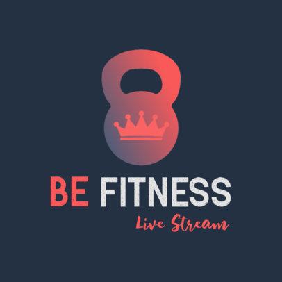 Simple Logo Maker for a Fitness Center with Gradient Colors 3936a