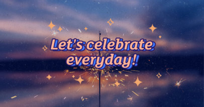 Facebook Post Template with a Celebration Quote and Doodled Stars 3253f