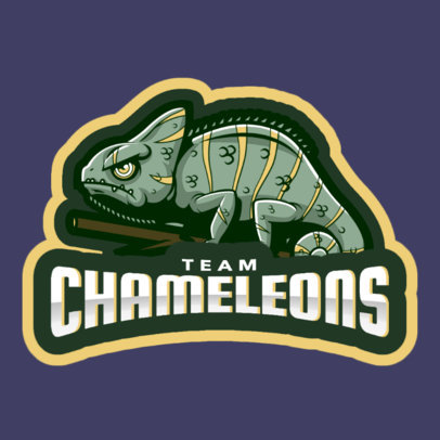 Logo Template Featuring a Chameleon 1649m-2964