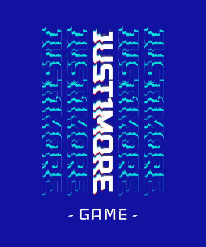 T-Shirt Design Template for a Gaming Team Featuring Glitch-Style Typeface 3272a
