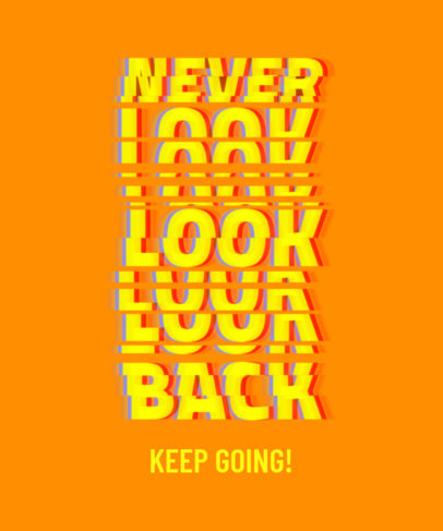 T-Shirt Design Template Featuring a Motivational Quote with Glitch-Style Typography 3272d
