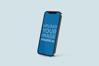 Mockup of an iPhone 12 Pro in a Customizable Setting 5009-el1