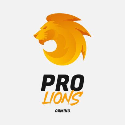 Lion-Themed Logo Maker for a Gaming Team 3348e-el1