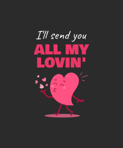 Illustrated T-Shirt Design Generator for Valentine's Day Featuring a Love Quote 3360e-el1