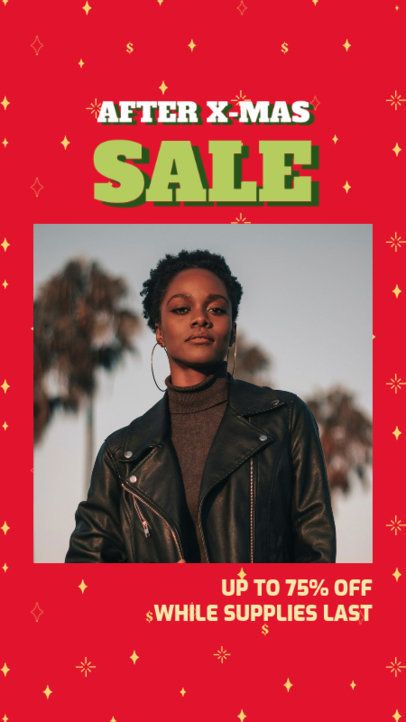 Xmas-Themed Instagram Story Design Template for a Boxing Day Super Sale 3284c