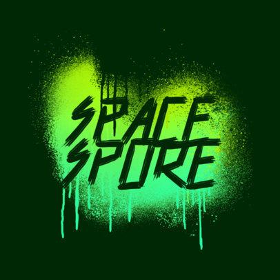 Streetwear Logo Template Featuring Graffiti Paint Splatters 3977a