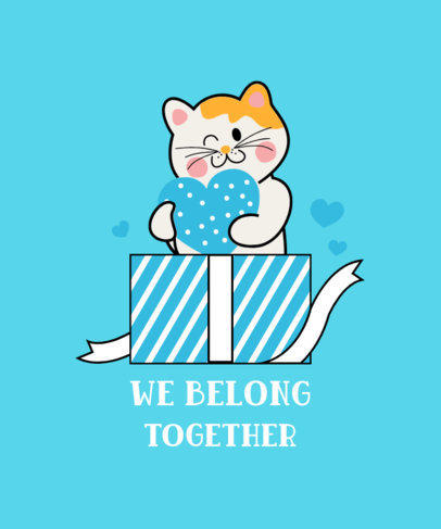 T-Shirt Design Generator with a Cat Graphic and a Sweet Quote 3364b-el1