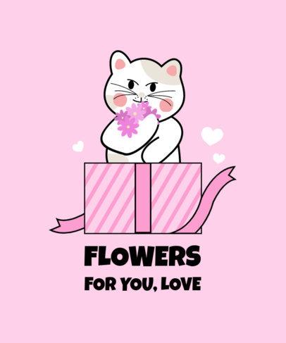 T-Shirt Design Creator with a Romantic Cat Graphic 3364c-el1
