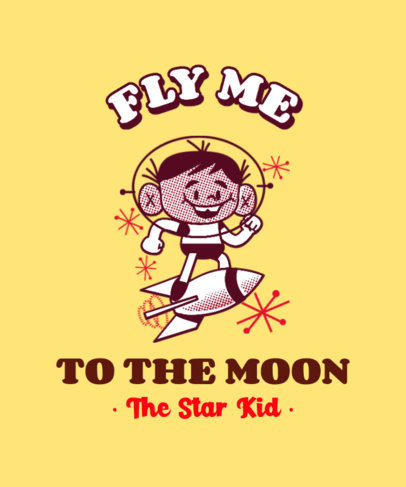 T-Shirt Design Creator Featuring a Retro Illustration of a Space Kid 3287c