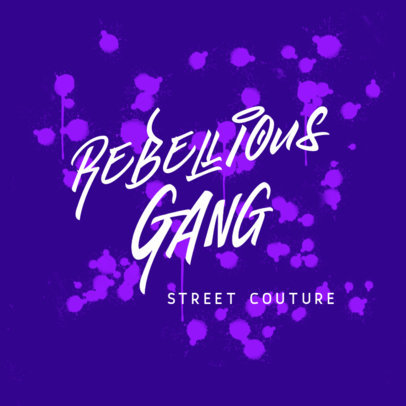 Online Logo Maker with Graffiti Style Typography 3875i