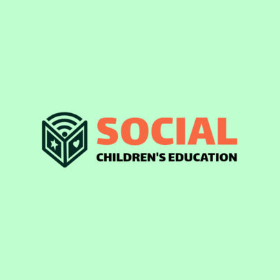 Education Logo Maker for a Children's Online School 3978F