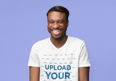 T-Shirt Mockup Featuring a Man Laughing in a Studio 46080-r-el2