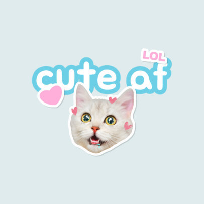 Twitch Emote Logo Maker Featuring Cat Graphics and Stickers 3982