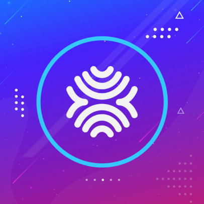 Patreon Profile Picture Template Featuring Abstract Backgrounds 3392a-el1