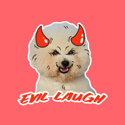 Funny Twitch Emote Logo Creator with an Evil Dog Graphic 3981i