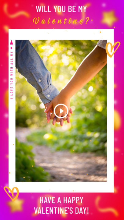 Instagram Story Generator with an Adorable Valentine's Proposal 3297a
