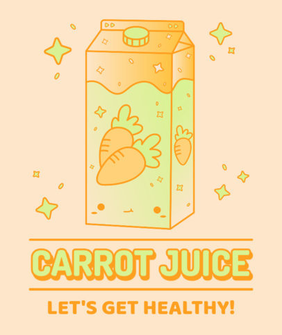 Kawaii-Styled Tote Bag Design Maker Featuring a Carrot Juice Graphic 3315a