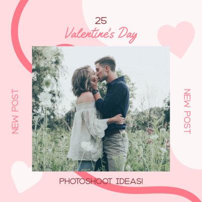 Instagram Post Design Maker for Valentine's Day Photoshoot Ideas 3300e