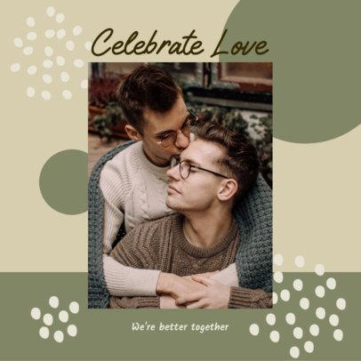 LGBTQ-Themed Instagram Post Generator for Valentine's Day 3300d