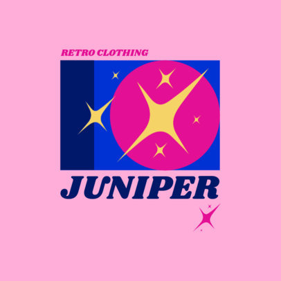 Logo Maker for a Retro Clothing Brand Featuring Colorful Graphics 3986l