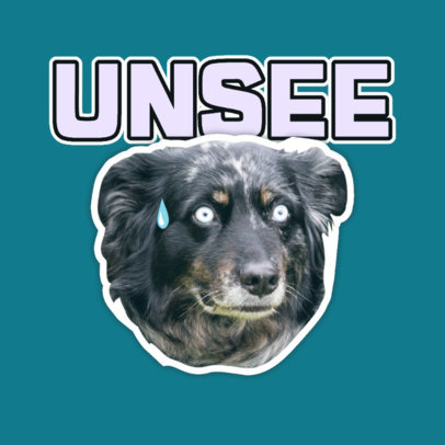 Twitch Emote Logo Template Featuring a Worried Dog Graphic 3980g