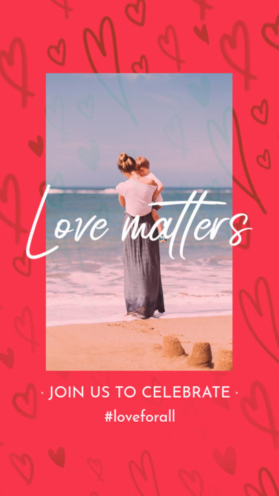Valentine's Day-Themed Instagram Story Generator With a Love Message 3298d