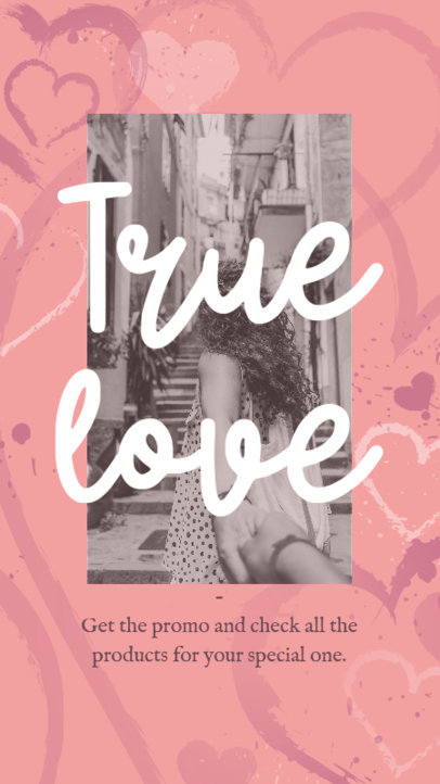 Instagram Story Template for a Valentine's Day Special Promo 3298c