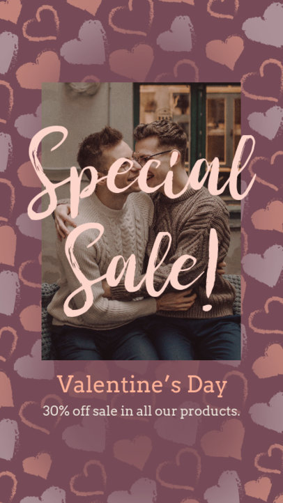 Instagram Story Generator for a Valentine's Day Online Sale 3298g