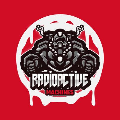 Team Logo Creator with a Graphic of a Human-Machine 3460b-el1