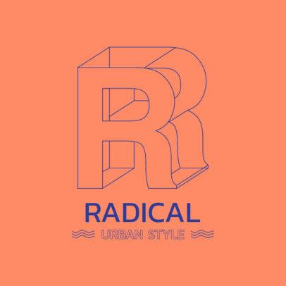 Streetwear Logo Maker Featuring a 3D Monogram 3418d