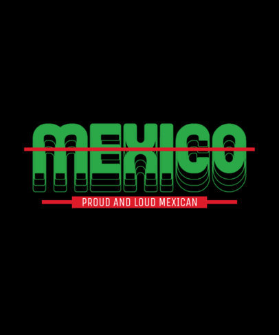 Mexico-Inspired T-Shirt Design Generator with a Cool Font and Layout 3336d