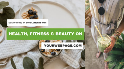 Facebook Cover Video Maker for a Wellness Supplements Brand 293a 2686