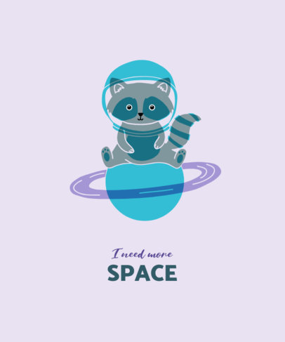 T-Shirt Design Maker Featuring an Astronaut Raccoon 3416d