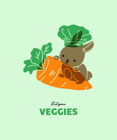 Cute T-Shirt Design Maker Featuring a Bunny and a Big Carrot 3416g