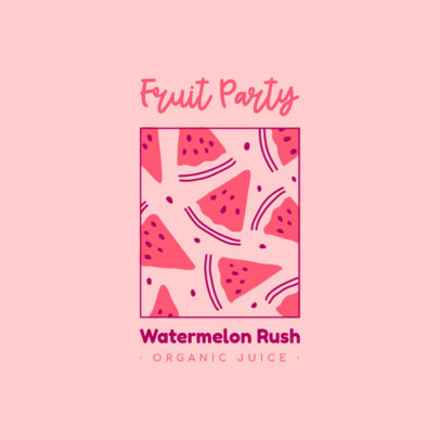 Logo Generator for a Juice Brand Featuring Watermelon Graphics 4009k
