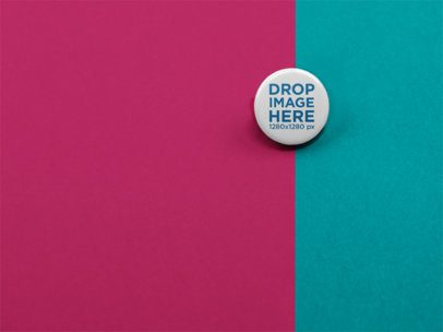 Small Button Mockup Lying on a Surface with Two Colors a15123