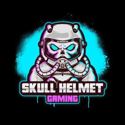 Gaming Logo Generator with a Skull Astronaut 3426c-el1