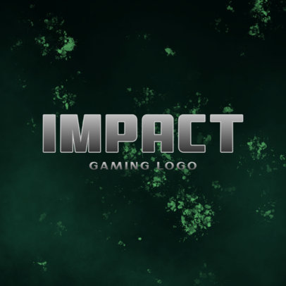 Gaming Logo Maker with a Bold Typography and a Texture Backdrop 4029c