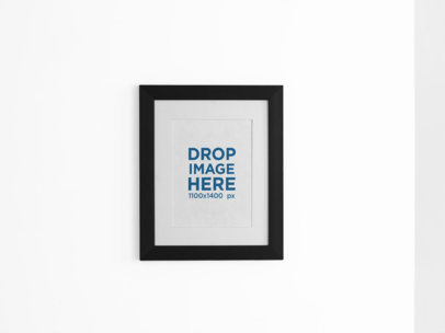 Framed Art Print Mockup on a Light Color Wall a15279