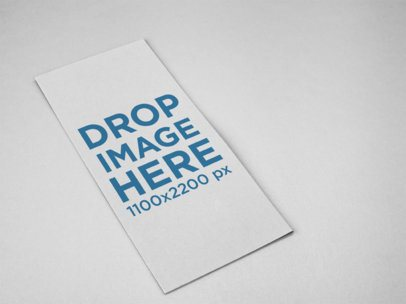Trifold Brochure Template Lying on a Solid Color Surface a15200