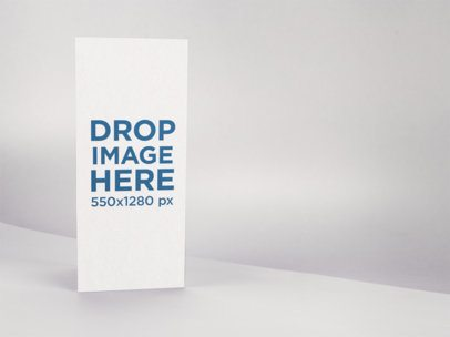 Trifold Brochure Template Standing on a Solid Color Room a15193