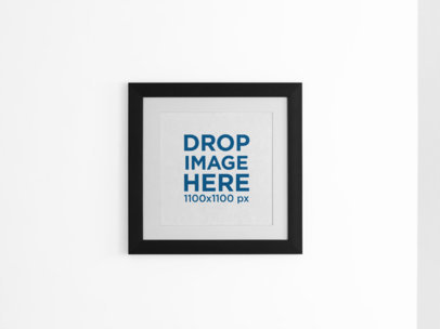 Square Framed Art Print on a Pastel Color Wall a15282